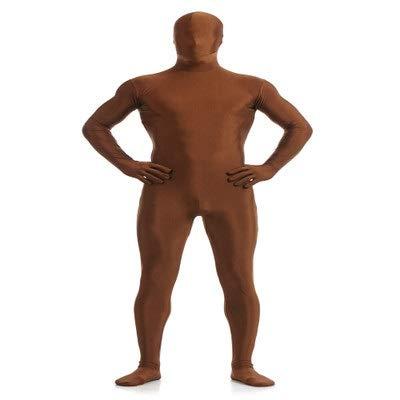 TOYSGAMES All Inclusive Strumpfhose Elastic Stage Black Man Kostüme Halloween Kostüm Ninja Unsichtbarkeitsumhang (Farbe : Brown, größe : ()