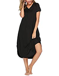773fa1ee3b63 Abollria Camisón sin Mangas para Mujer Algodon Vestido Verano Playa  Casuales Camisón