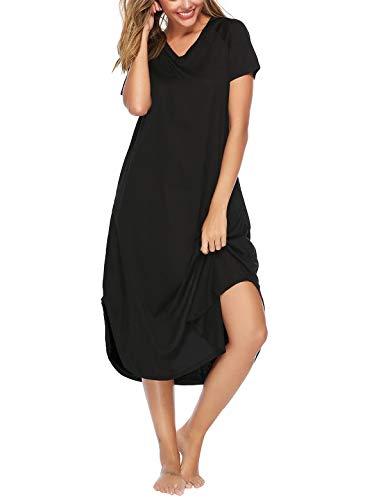 Abollria Camisón sin Mangas Mujer Algodon Vestido