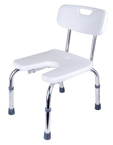 GAH-Alberts 140830 – Silla para ducha (forma de U, altura regulable, plástico, 400 x 380 mm), color blanco