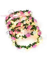 Neuheit Platz 4Stück Light Up Flower Stirnband-LED Floral Head Crown für Hochzeit, Festival und Party-4Stück (Halloween Die Prinzessin-braut)