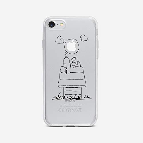 licaso iPhone 7 Handyhülle TPU mit Dog Dreaming Print Motiv - Transparent Cover Schutz Hülle H& Träume Aufdruck Druck