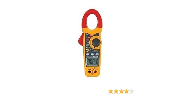 Pince amperemetrique numerique TRMS 6000 Points AC//DC Multimetre Professionnel Gamme Automatique//Mesure Courant//Tension //Diode//Temp/érature//R/ésistance//Fr/équence//Diode//Capacit/é//rapport cyclique
