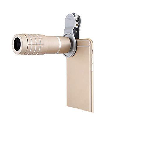 ZHZX Monokulare mit hoher Vergrößerung, 10X42 Weitwinkel mit manueller Fokussierung und großem Okular, Handy-Teleobjektiv, für Reisen, Wandern, Konzert,Gold