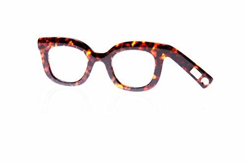 Handbrille Helgoland, Neuheit, Lesehilfe für modebewusste Frauen, Farbe Tortoise, 1.5 dpt