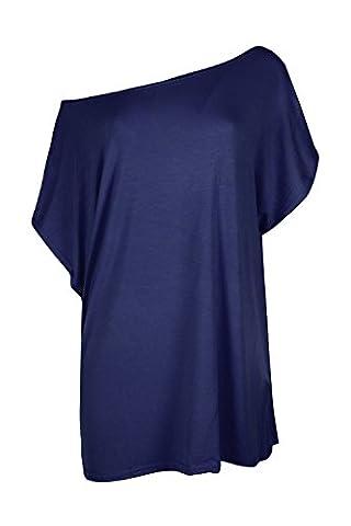 Womens Ladies Plain Baggy Oversized Short Sleeves Scoop Neck Mini T Shirt Top