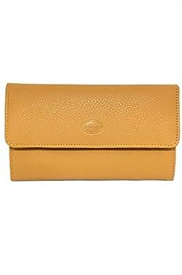 Portefeuille Tout en un Compagnon Femme Cuir Véritable Souple Grainé - Porte chequier Porte carte / porte monnaie