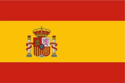 Autoaufkleber Sticker Fahne Flagge Aufkleber 10cm Spanien laminiert sehr lange Haltbar