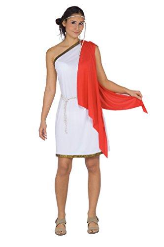 Blumen Paolo 62088-Antike römische S.P.Q.R. Kostüm Damen Erwachsene, weiß, Einheitsgröße, Gr. 40-42 (Pinocchio Kostüm Für Damen)