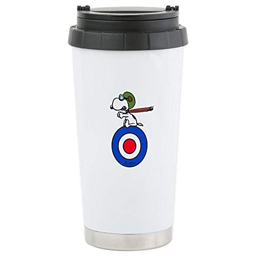 CafePress - Flying Ace Snoopy - Thermobecher Edelstahl, isoliert 16 Oz Coffee & Tea Tumbler