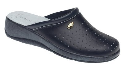 Ladies San Malo leather clog mules NAVY size 7
