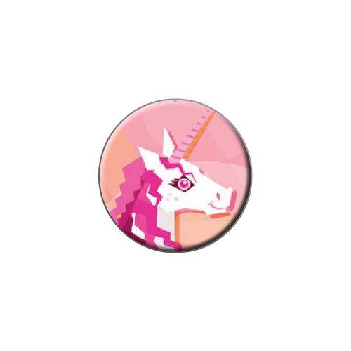 Geometrische Einhorn pink–Fantasy Metall Revers Hat Shirt Handtasche Pin Krawattennadel Pinback (Geometrische Patches)