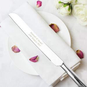 Miss Pretty London personnalisé Cœur Couteau à gâteau
