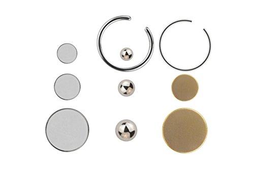 Finto piercing magnet set 10 teilig piercing per lingua e altre parti del corpo