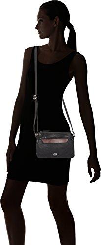 GERRY WEBER Damen Retro Chic Shoulderbag Shz Umhängetasche, Schwarz (Black), 4x15x23 cm
