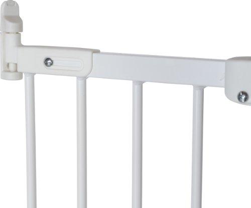Baby Dan Flexi Fit Metall super flexibles Schutzgitter für Türen und Treppen 67 – 105,5 cm – hergestellt in Dänemark und vom TÜV GS geprüft, Farbe: Weiß - 3