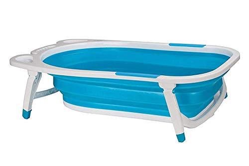 Bhavya-Enterprise-mall-Children-Kids-Folding-Bath-Tub-Comfort-for-Bathing-Baby-WhiteBlue