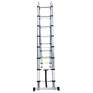 Superworth 5 M Multipurpose Folding Telescopic Ladder A Frame Shape Aluminium Portable Extendable Extension Telescoping Steps for Home Office Indoor Outdoor 150Kg Capacity