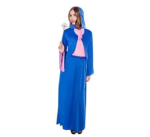 Imagen de disfraz de hada madrina azul para mujer