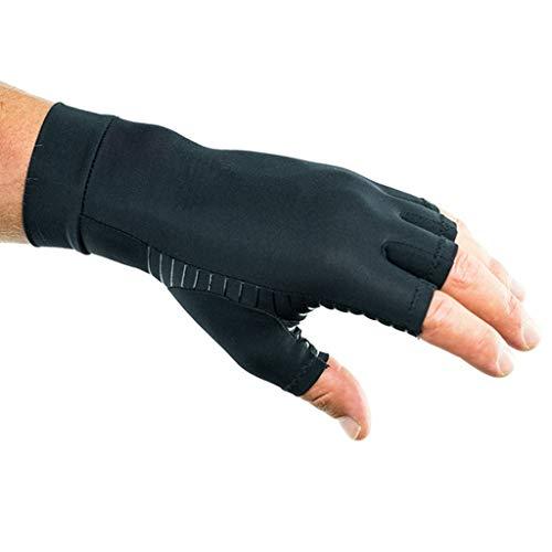 Preisvergleich Produktbild Gloves FANGQIAO SHOP Anti-Arthritis-Kupfer-Faser-halbe Finger-Druck-Handschuh-Kompressions-Handschuhe Schmerzlinderung strickte Gesundheits-Handschuhe