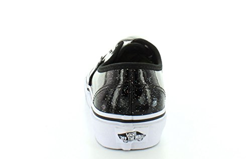 Vans  Authentic, Vans Authentic Patent Galaxy, noir et blanc, 39 mixte adulte Noir