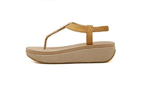 Sandales Bohème été de sexe féminin avec muffin de chaussures clip orteil naturals