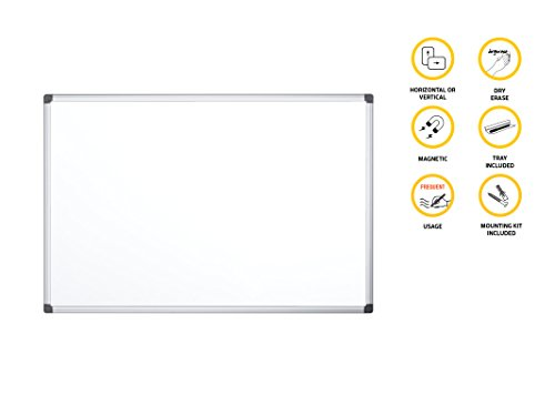 Compare Prices for Bi-Office Whiteboard Maya, Magnetic, Aluminium Frame, 240 x 120 cm on Amazon