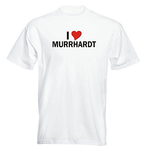 T-Shirt mit Städtenamen - i Love Murrhardt- Herren - unisex Weiß