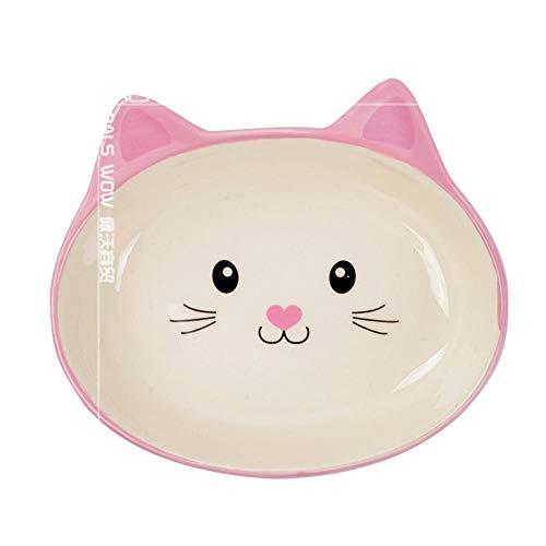 CNCN Tiernahrungsschale Keramik kleine Gesichtsform Tiernahrungsschale Katzenschale Hundenapf universal pflegeleicht