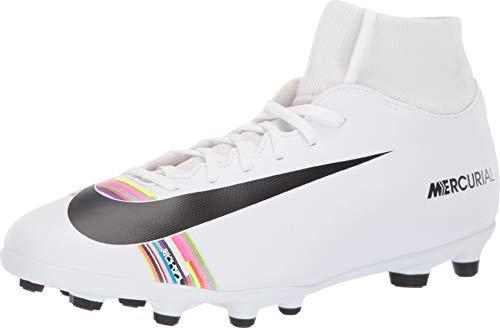 Nike Superfly 6 Club Fg/MG, Scarpe da Calcetto Indoor Unisex-Adulto, Bianco Black/White 000, 44 EU