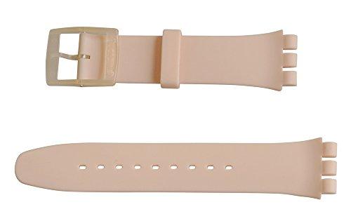 Swatch Rose Rebel Ersatzband Uhrenarmband Silikon Band Rose 19mm für New Gent SUOT700
