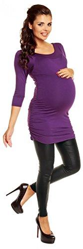 Zeta Ville Maternité - Shirt Top Tunique Grossesse Mini robe - femme - 973c Pourpre