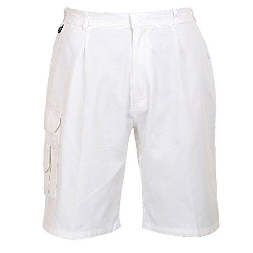 Portwest Maler-Short weiß 100% Baumwolle viele Multi-Taschen - Painters EU / UK Weiß