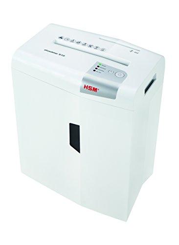 HSM shredstar X10 Aktenvernichter, Sicherheitsstufe P-4, 10 Blatt (Partikelschnitt) mit CD-Schredder