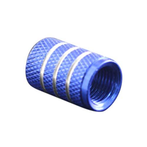 F-blue Voiture de Haute qualité en Alliage d'aluminium en métal Bleu Tire Rim Valve Air Port Dust Cover Potences Caps 4pcs