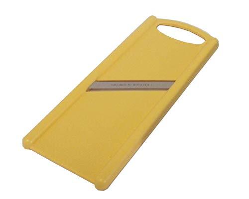 Gurkenhobel mit Solinger Klinge, beidseitig schneidend, rostfreier Edelstahl, pastell-gelb, Sonja-PLASTIC - Made in Germany