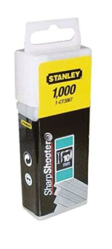 "Stanley 1-CT308T Agrafe plate 12 mm 1/2"" Boîte 1000 pièces"