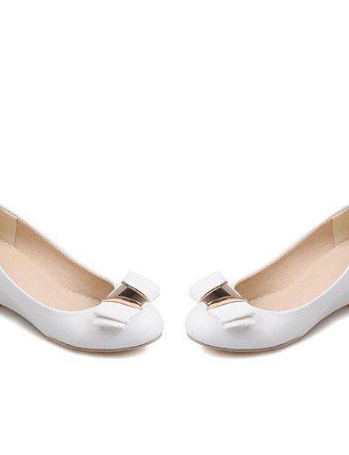 WSS 2016 Chaussures Femme-Bureau & Travail / Habillé / Décontracté-Noir / Blanc / Beige-Talon Compensé-Compensées / Escarpin Basique / Bout Arrondi black-us5 / eu35 / uk3 / cn34