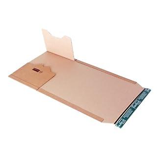progressPACK Universal-Versandverpackung Premium PP B02.08 aus Wellpappe, DIN A4, 300 x 220 x bis 80 mm, 20-er Pack, braun