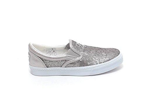 Liu Jo Scarpe Bambina, Articolo 22029, Sneakers in Paillettes, Colore Beige