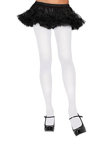 Leg Avenue Strumpfhose Nylon blickdicht weiß Einheitsgröße (Avenue Leg Strumpfhose Blickdichte)
