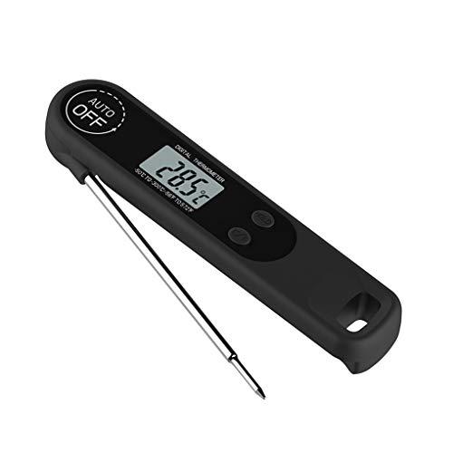 Dergtgh Digitale Folding Lebensmittel-Thermometer Fleisch Milch Kochen der Nahrung Lange Probe Grill Faltbare Magnetic Temperaturtester (Fleisch, Digitale Thermometer)