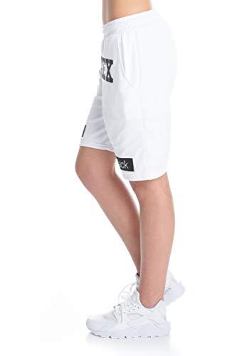 Pyrex 19epb40012 bermuda donna in rete stampato in lurex (bianco, m)