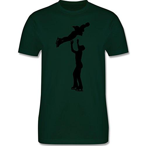 Wintersport - Eiskunstlauf Paarlaufen Eiskunstläufer - Herren Premium T-Shirt Dunkelgrün