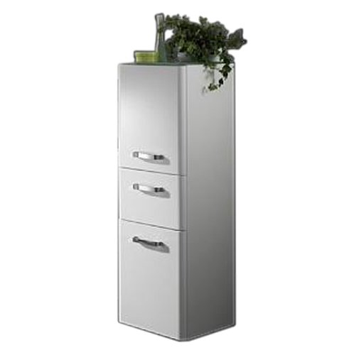 Held Möbel 218.3044 Phoenix Midischrank 2-türig, 1 Auszug, 2 Einlegeböden, 35 x 114 x 35 cm, hochglanz weiß