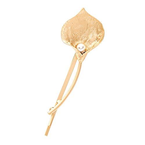 bigboba 1Elegante Calla Form Perle Haar Krallen Klemmen Haarspange hairhand Jewelry Haar-Styling-Zubehör Haar Dekoration für Frauen Mädchen Golden