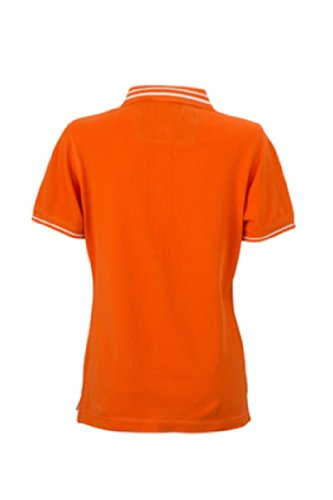 James & Nicholson Damen Poloshirt Ladies' Lifestyle dark-orange/off-white