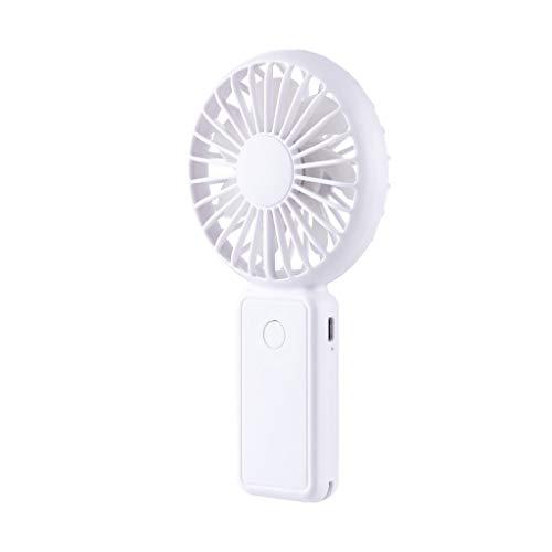 Clacce Mini-Handventilator, Persönlicher Tragbarer USB-Wieder Aufladbarer Abkühlender Ventilator mit 2600mA Energien-Bank für Büro-Raum-im Freien-Haushalts-Reisen.