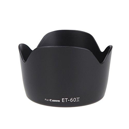Andoer ET-60 II-Blume Gegenlichtblende für Canon EF 75-300 mm F / 4-5,6 III EF-S 55-250mm f / 4-5.6 is