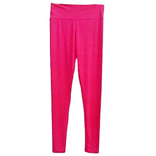 QIYUN.Z Femmes Solides Calecons De Sport Bonbons Fitness Gym Yoga Pantalons Capri Fonctionnement Troncon Se Leva
